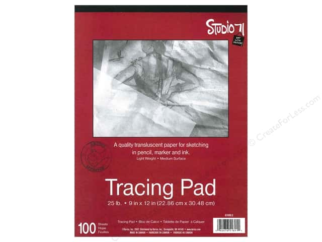 Darice Art Accessories Studio 71 Tracing Pad 9 x 12  in. 100 Sheet