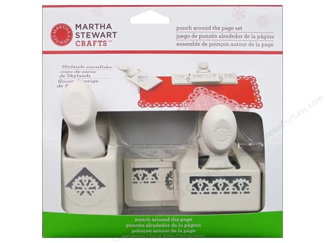 Martha Stewart Punch Around The Page Set Skylands Snowflake