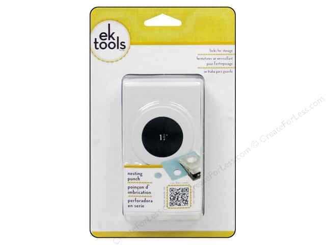 EK Paper Shapers Large Nesting Punch Circle 1 1/4 in.