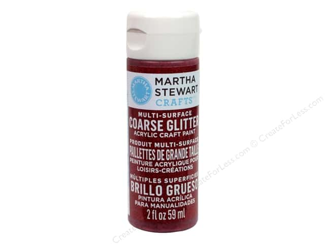 Martha Stewart Craft Paint by Plaid Glitter Coarse Garnet 2oz
