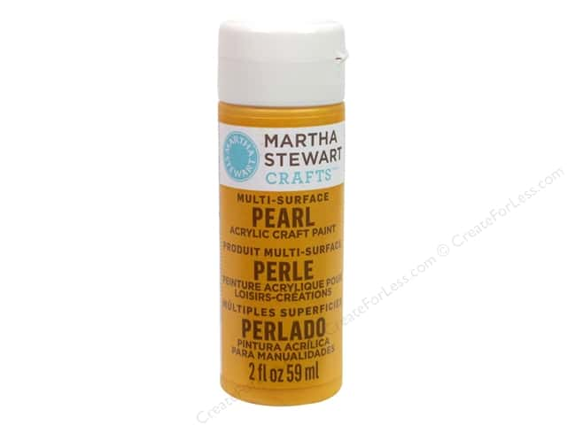 Martha Stewart Craft Paint by Plaid Pearl School Bus 2 oz.