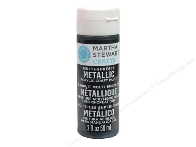 Martha Stewart Craft Paint by Plaid Metallic Black Nickel 2oz