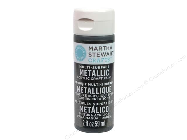 Martha Stewart Craft Paint by Plaid Metallic Gunmetal 2 oz.