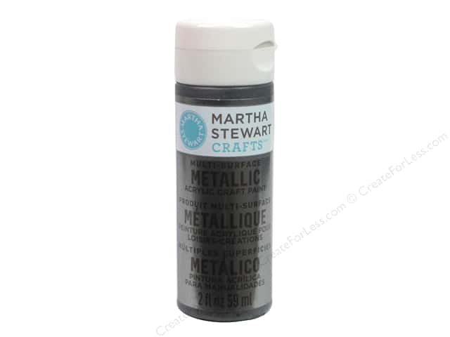 Martha Stewart Craft Paint by Plaid Metallic Brushed Pewter 2oz