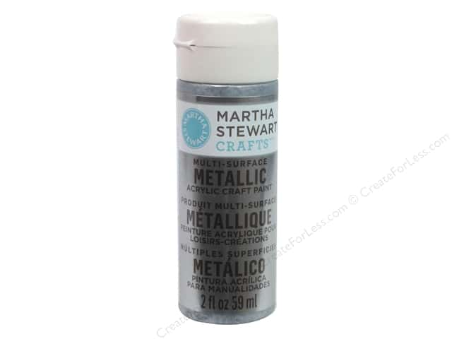Martha Stewart Craft Paint by Plaid Metallic Pure Platinum 2oz