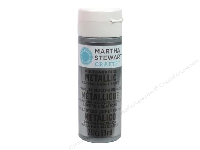 Martha Stewart Craft Paint by Plaid Metallic Titanium 2oz