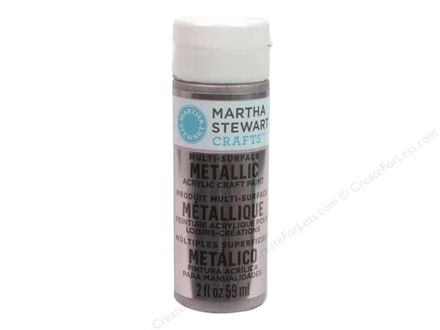 Martha Stewart Craft Paint by Plaid Metallic Rose Chrome 2 oz.