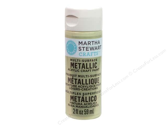Martha Stewart Craft Paint by Plaid Metallic Light Gold 2oz