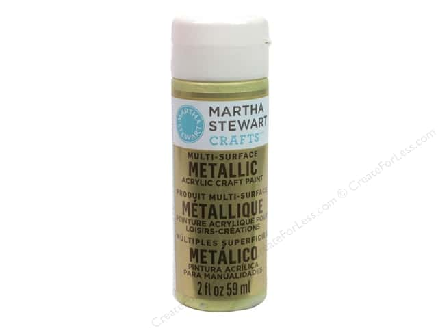 Martha Stewart Craft Paint by Plaid Metallic Green Gold 2oz