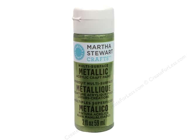 Martha Stewart Craft Paint by Plaid Metallic Citrine Gold 2oz