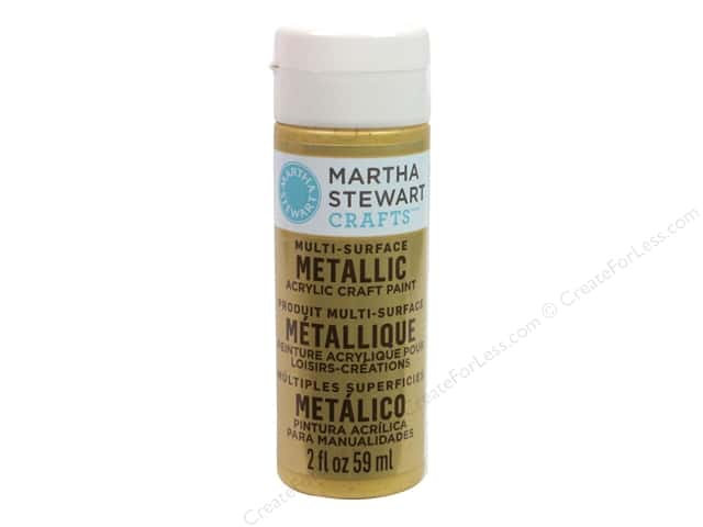 Martha Stewart Craft Paint by Plaid Metallic Pale Bronze 2 oz.