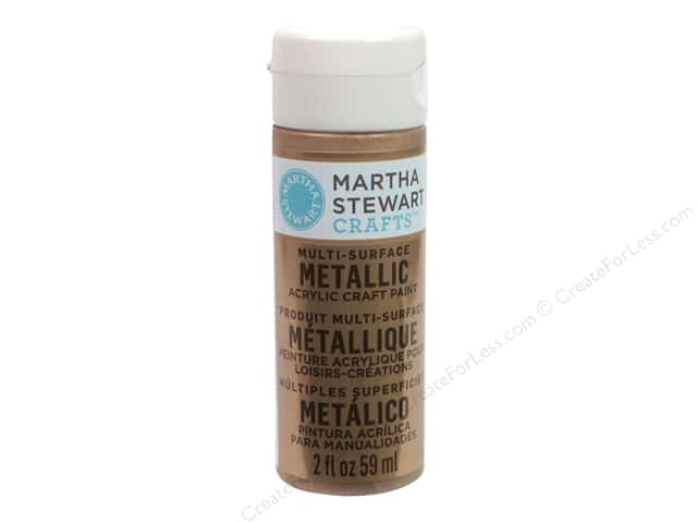 Martha Stewart Craft Paint by Plaid Metallic Rose Gold 2 oz.