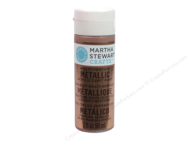 Martha Stewart Craft Paint by Plaid Metallic Rose Copper 2 oz.
