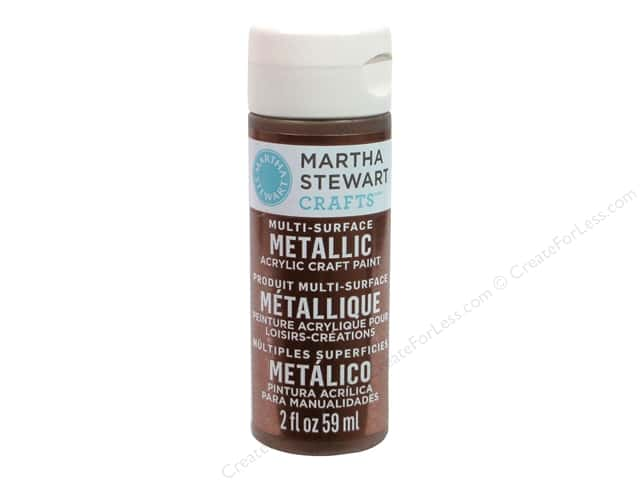 Martha Stewart Craft Paint by Plaid Metallic Auburn Copper 2 oz.