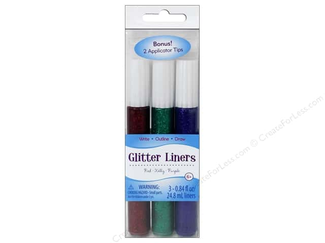 Sulyn Glitter Glue Liners Peacock Fuchsia Royal 3pc