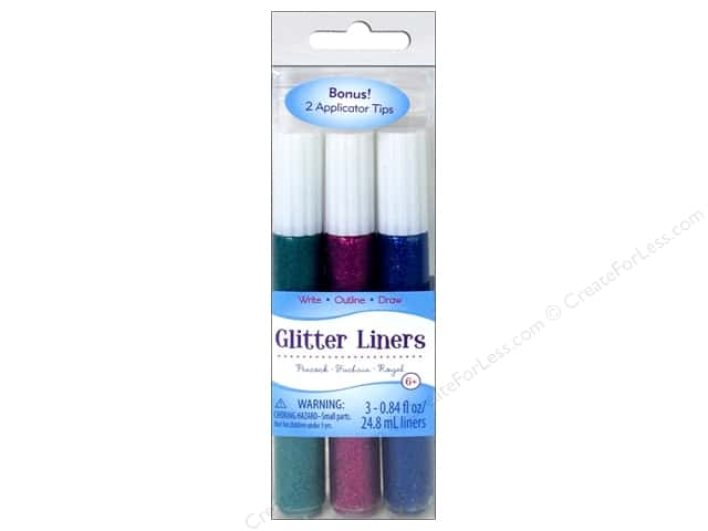 Sulyn Glitter Glue Liners Red Kelly Purple 3pc