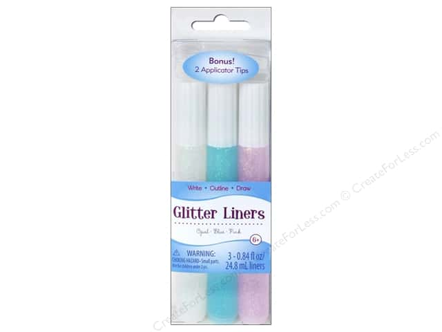 Sulyn Glitter Glue Liners Opal Blue Pink 3pc