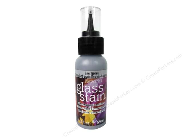 DecoArt Glass Stain 2oz Transparent Silver Leading 2oz