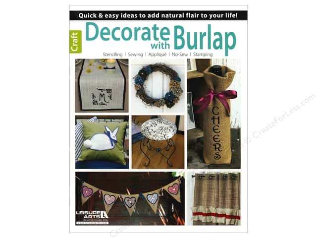 Leisure Arts Decorate With Burlap Book
