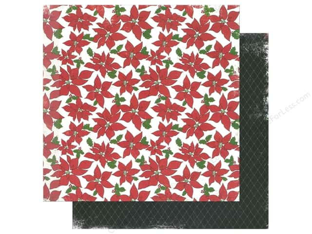 "Making Memories Paper 12""x 12"" Believe Poinsettia Floral/Diamond (25 pieces)"