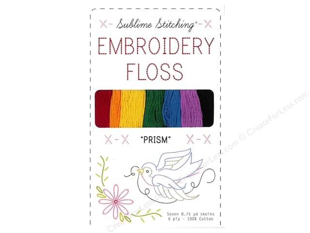 Sublime Stitching Floss Pack Six Ply Prism 7pc
