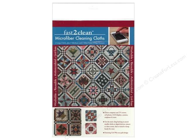 C&T Publishing Fast2Clean Microfiber Cleaning Cloths - Civil War Sampler Quilt