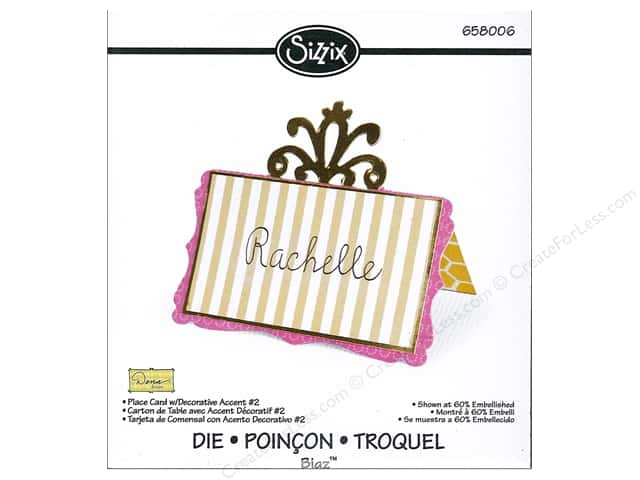 Sizzix Bigz Die Place Card with Decorative Accent 2 by Dena Designs