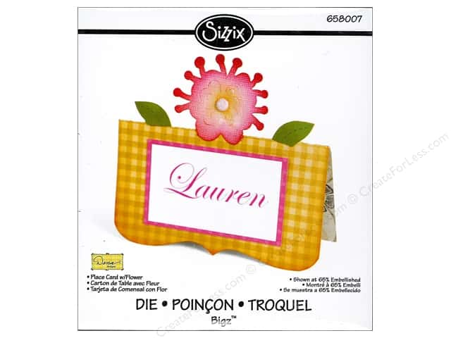 Sizzix Bigz Die Place Card Flower by Dena Designs