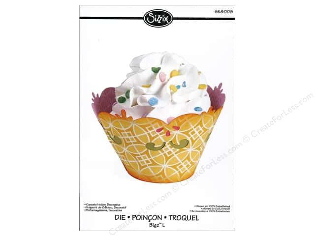 Sizzix Bigz L Die Cupcake Holder Decorative by Dena Designs