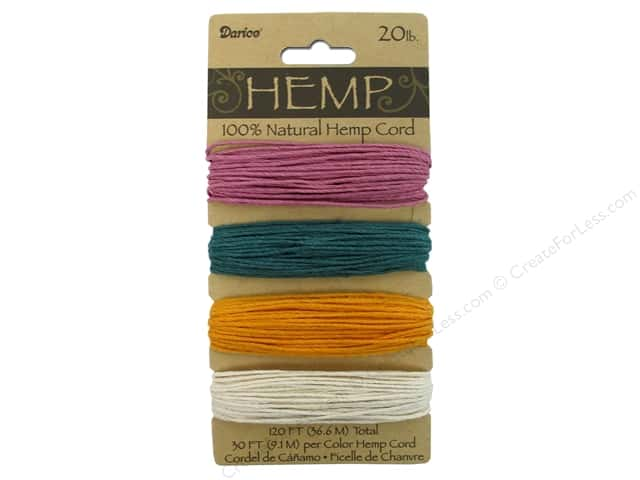 Darice Cord Hemp Set 20lb Spring Color 4x30'