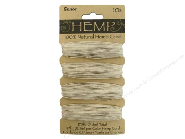 Darice Cord Hemp Set 10lb Natural 4x42'