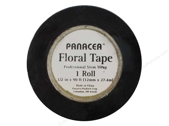Panacea Floral Supplies Tape 90' Black (12 feet)