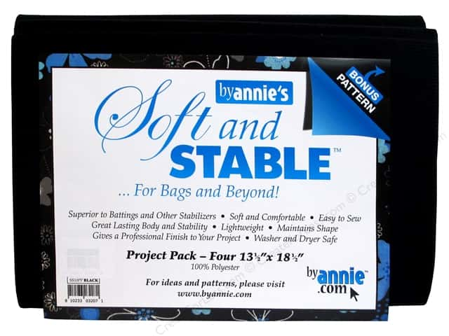 By Annie Soft And Stable 100% Polyester Project Pack Black