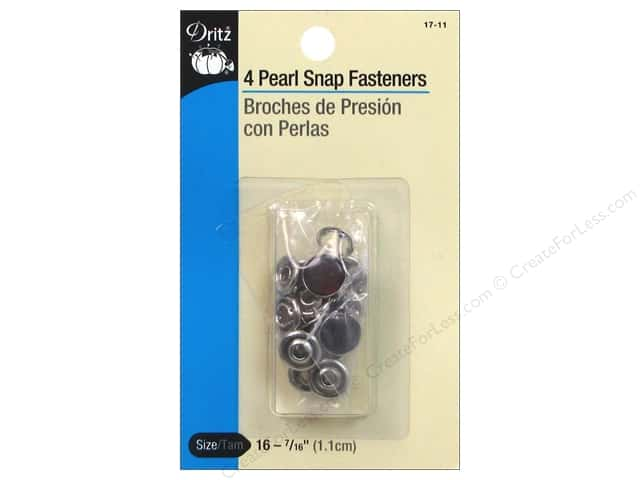 Pearl Snap Fasteners by Dritz 7/16 in. Brown 4 pc.
