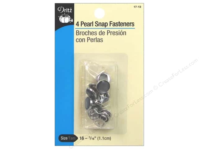 Pearl Snap Fasteners by Dritz 7/16 in. Smoke 4 pc.