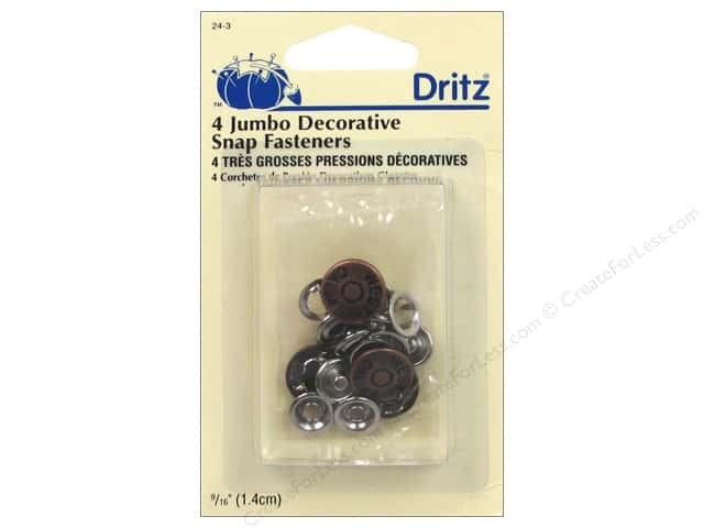 Decorative Snap Fasteners by Dritz Jumbo 9/16 in. Copper 4 pc.
