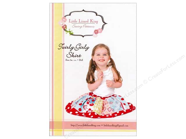 Little Lizard King Twirly Girly Skirt Sizes 3M-10 Pattern