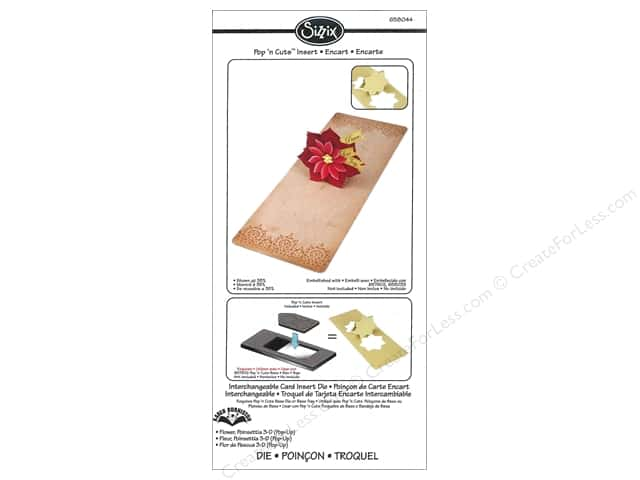 Sizzix Dies Karen Burniston Pop N Cuts Magnetic Flower Poinsettia 3D