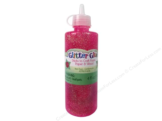 Sulyn Glitter Glue 4oz. Raspberry
