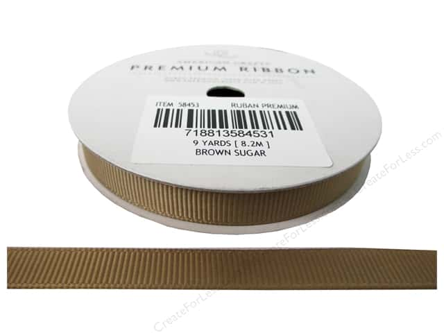 American Crafts Grosgrain Ribbon 3/8 in. x 9 yd. Brown Sugar