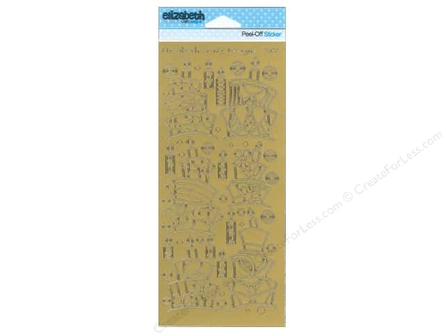 Elizabeth Craft Peel Off Sticker Funky Cakes Gold