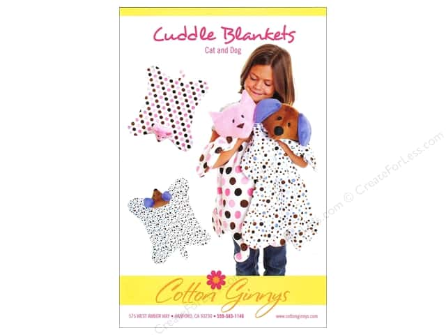 Cotton Ginnys Cuddle Blankets Cat and Dog Pattern