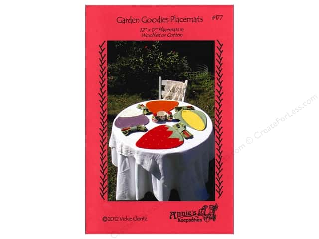 Annie's Keepsakes Garden Goodies Placemats Pattern