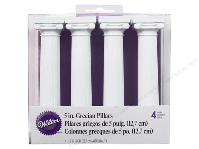 "Wilton Decorations Grecian Separator Pillars 5"" 4pc"