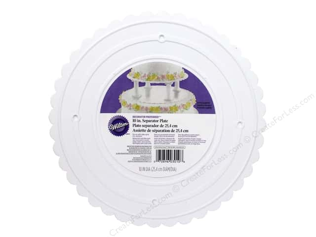 "Wilton Decorations Scalloped Plate 10"" Decorator Preferred"