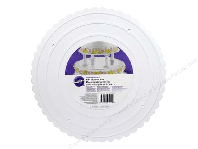 "Wilton Decorations Scalloped Plate 12"" Decorator Preferred"