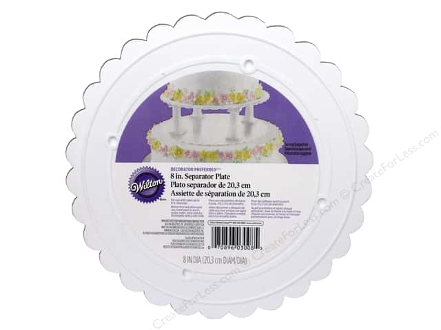 "Wilton Decorations Scalloped Plate 8"" Decorator Preferred"