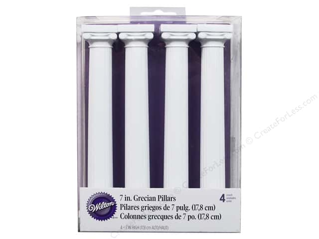 "Wilton Decorations Grecian Separator Pillars 7"" 4pc"