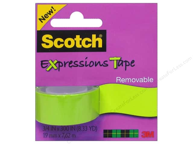 "Scotch Tape Expressions Removable .75""x 300"" Green"