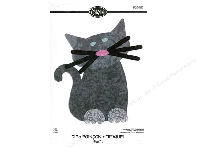 Sizzix Bigz L Die Cat by Emily Humble